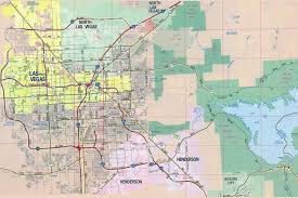 Map Las Vegas by Large Detailed Road Map Of Las Vegas City Vidiani Com Maps Of