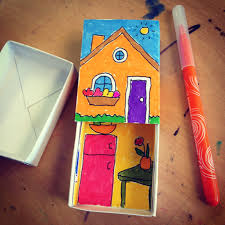 matchbox house craft house and finger