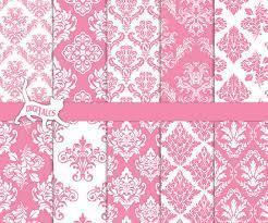 damask wrapping paper pink damask digital paper pink digital paper pastel digital paper