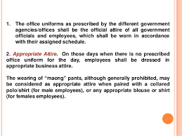 dresscode gov u0027t official and employees