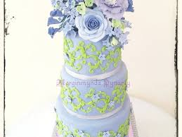 3 tier purple and lime green wedding cake cakecentral com