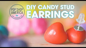 make these diy candy stud earrings youtube