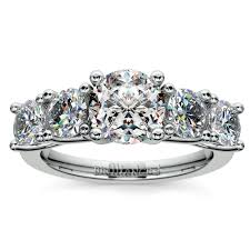 trellis five diamond engagement ring in platinum 3 4 ctw