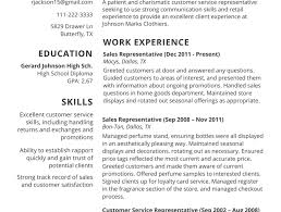 resume examples of resumes for customer service jobs amazing