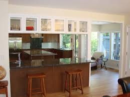 clear glass door cabinets u0026 drawer peninsula glass uppers glass kitchen cabinet