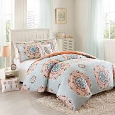 Coral Colored Comforters Buy Coral Blue Bed Set From Bed Bath U0026 Beyond