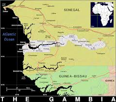Gambia Africa Map by Gm The Gambia Public Domain Maps By Pat The Free Open Source