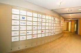 wall display as hanging systems creates fantastic branding wallhang with the best