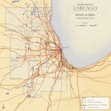 Chicago Road Map by Metropolitan Chicago Transportation