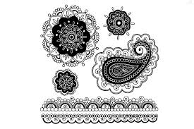 beautiful paisley tattoo design