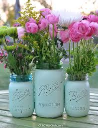 jar vases distressed jar vases diy club chica circle where crafty
