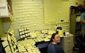 post it sur bureau 7 astuces pour être le moins productif possible au travail