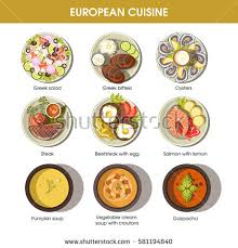 european cuisine european cuisine icons restaurant menu templates เวกเตอร สต อก