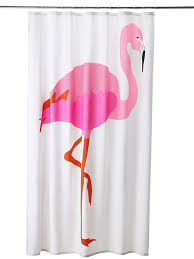 Purple Curtains Ikea Decor Flamingo Decor From Ikea Cheery Shower Curtains For Just 14 99