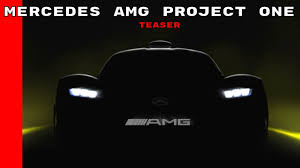 mercedes amg project one teaser youtube