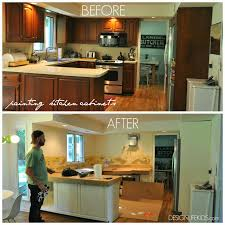 Painted Furniture Ideas Before And After Painted Kitchen Cabinet Ideas Before And After Kitchen Crafters
