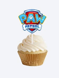 amazon paw patrol badge cupcake toppers paw patrol party
