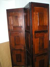 classic solid wood basic 4 panel room divider furniture