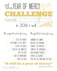 Challenge Works Catholic All Year The Year Of Mercy Family Challenge