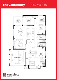 Canterbury Floor Plan by House U0026 Land Packages Hammond Park Complete Homes