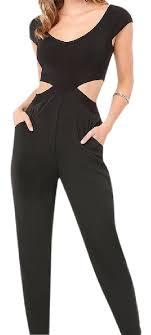 bebe jumpsuit bebe black cutout romper jumpsuit size 8 m tradesy
