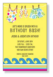 Backyard Birthday Party Invitations by 25 Best Party Invites Images On Pinterest Pool Parties Birthday