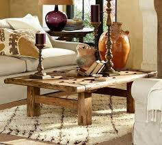 barn door side table reclaimed wood coffee table pottery barn