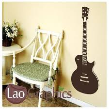 Guitar Home Decor Trumpet Musical Wall Stickers Home Decor Music Art Decals