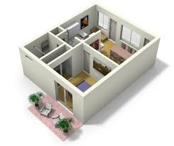 Live Work Floor Plans Small Apartment Design For Live Work 3d Floor Plan And Tour My