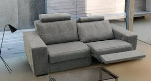 canapé avec repose pied canape avec repose pied integre canapac contemporain en tissu pour