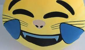 funny creative emoji expression throw pillow soft plush sofa bed