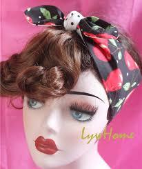 1950s headband 1950s women vintage rockabilly pinup polka dot black cherry