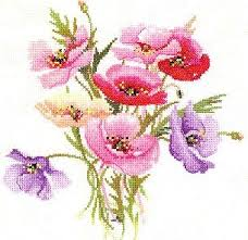 heritage crafts poppy posy cross stitch pattern 123stitch