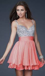 short prom dresses with straps and beads cheap latest prom