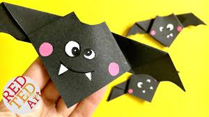 origami easy animal bat cute hallloween diy decor paper crafts