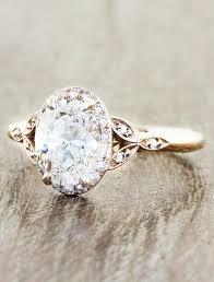 antique rose rings images Rachael oval diamond rose gold engagement ring ken dana design jpg