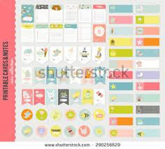 romantic love cards notes stickers labels stock vector 259742363
