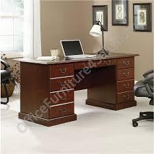 sauder heritage hill outlet double pedestal desk 30 1 8