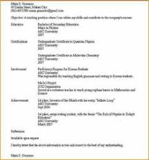 Extracurricular Resume Template Example Extracurricular Activities Dfwhailrepair Com Resume