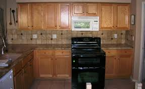 Kitchen Counter Backsplash Bathroom Oak Kitchen Cabinets With Cozy Bedrosians Tile