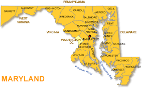 map of maryland with cities maryland city map