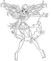 club bloomix coloring pages