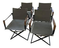 dedon seax folding armchairs set of 4 chairish