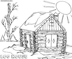 log house coloring pages coloring pages to download and print