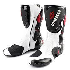 white biker boots aliexpress com buy pro biker speed bikers motorcycle boots moto