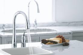 kitchen sink and faucet k 647 bl cp vs kohler simplice two kitchen sink faucet with