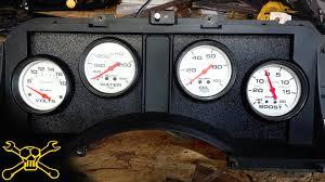 mustang custom gauges custom autometer cluster turbo mustang build part 5