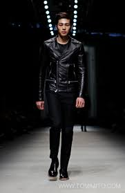 all black motorcycle jacket seoul fashion week fall 2013 leightomimito