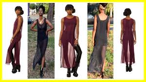 how to make a sheer maxi dress diy youtube