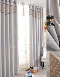 thermal and blackout grey patterned curtains